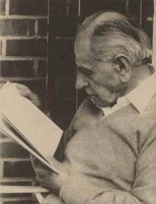Il filosofo Karl Popper