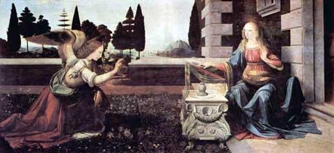 Leonardo da Vinci - Annunciazione