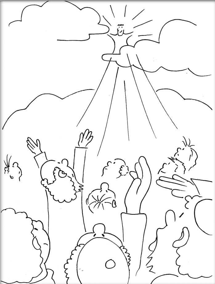 ascension of mary coloring pages - photo#5